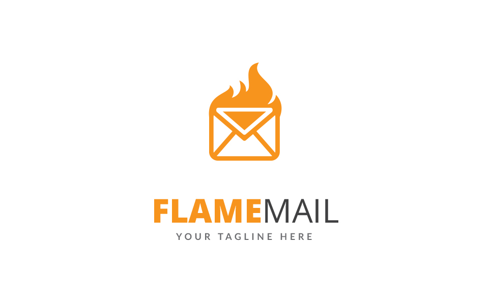 Flame Mail Logo Template