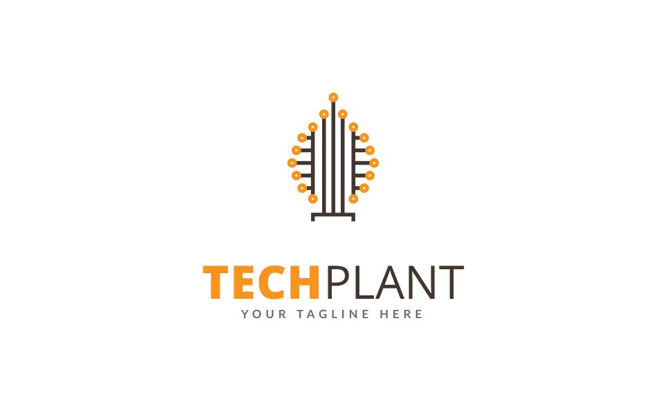 Tech Plant Logo Template
