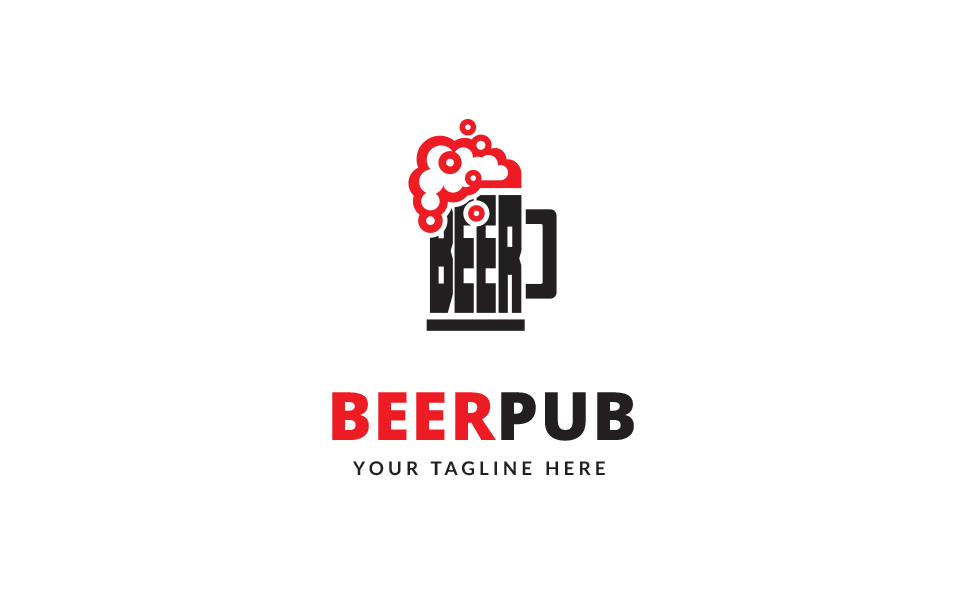 Beer Pub Logo Template