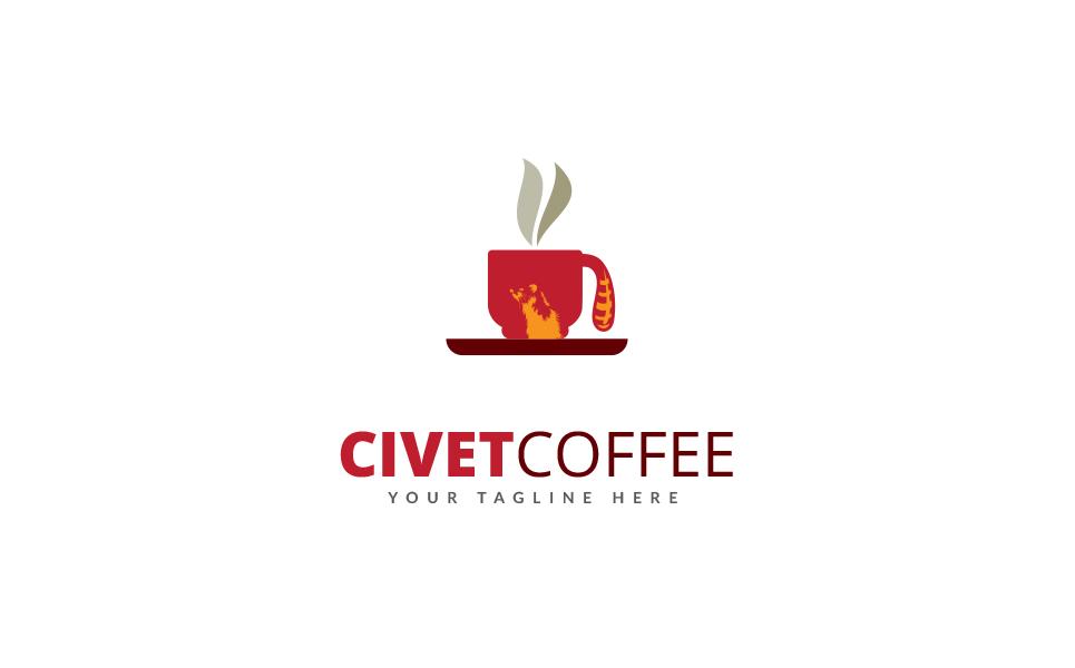 Civet Coffee Logo Template