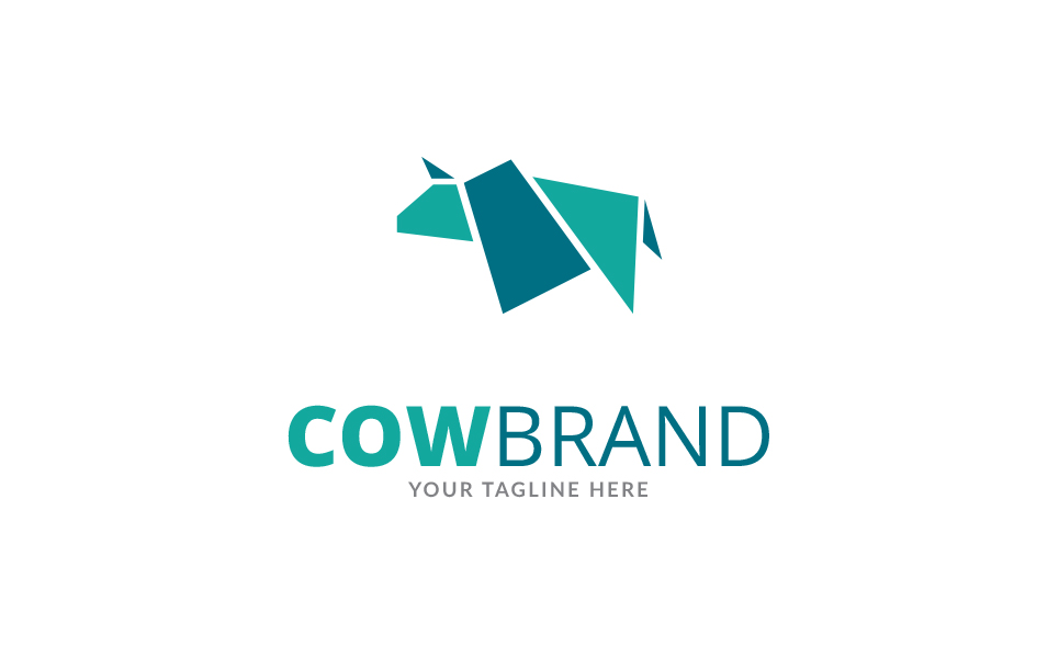 Cow Brand Logo Template