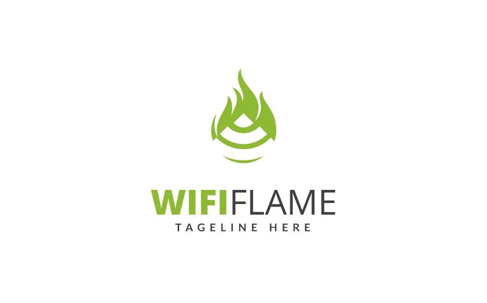 Wifi Flame Logo Template