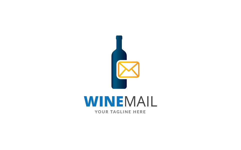 Wine Mail Logo Template
