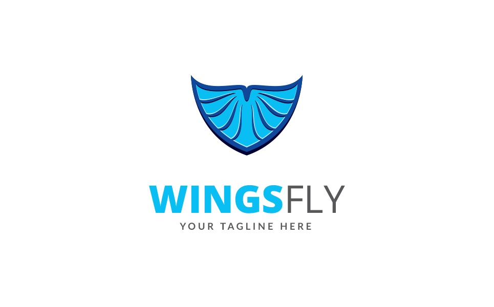 Wings Fly Logo Template