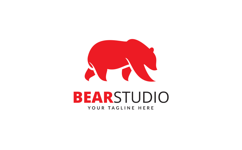 Bear Studio Logo Template