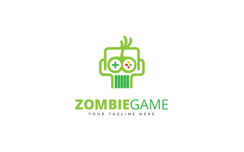 Zombie Game Logo Template