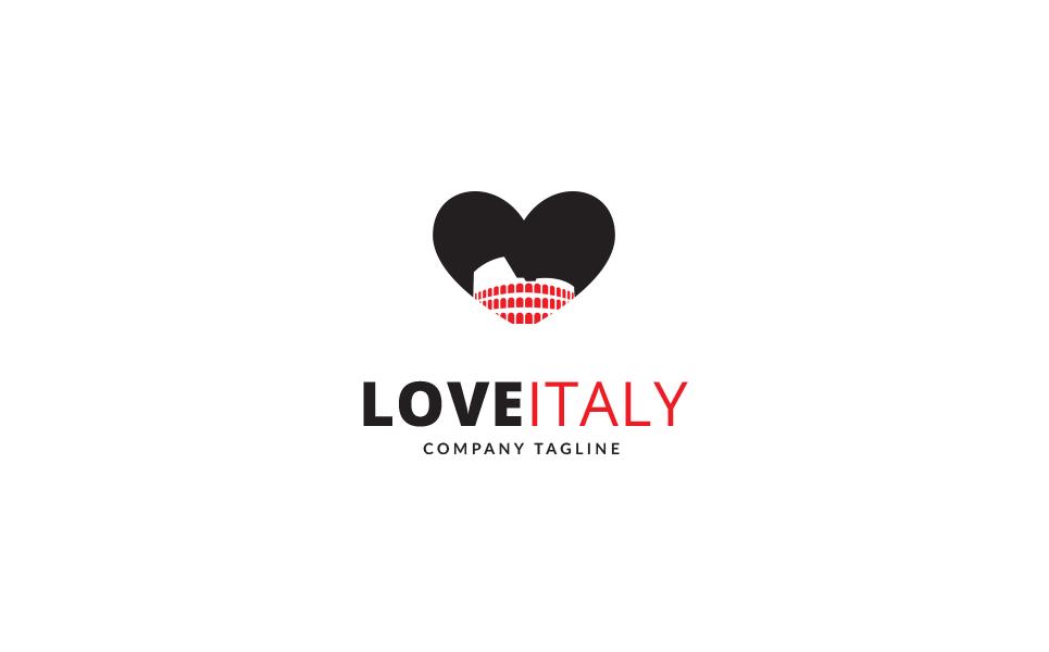 Love Italy Logo Template