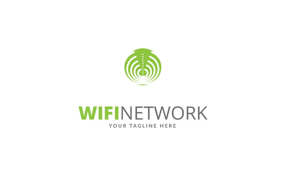 Wifi Network Logo Template
