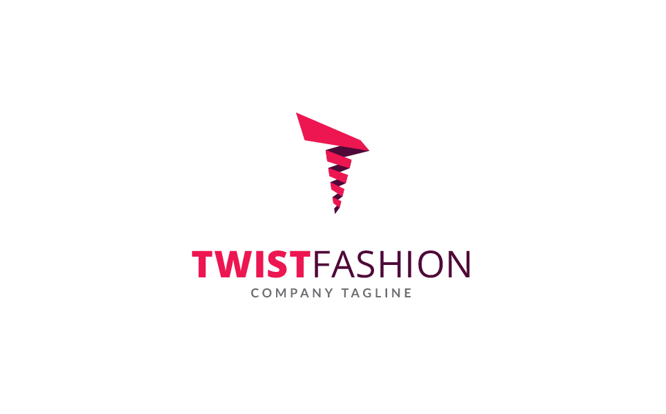 Twist Fashion Logo Template