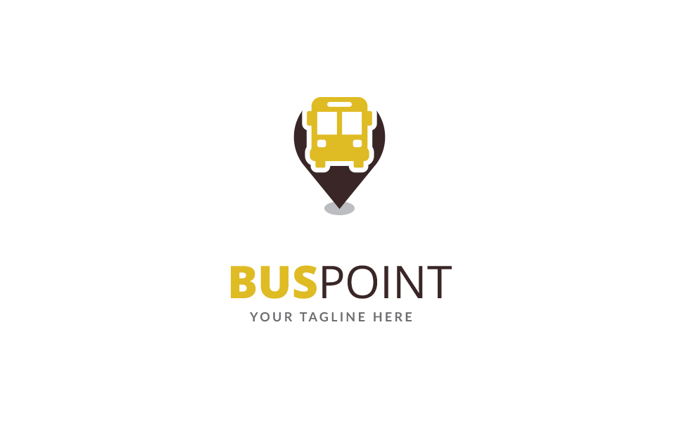 Bus Point Logo Template