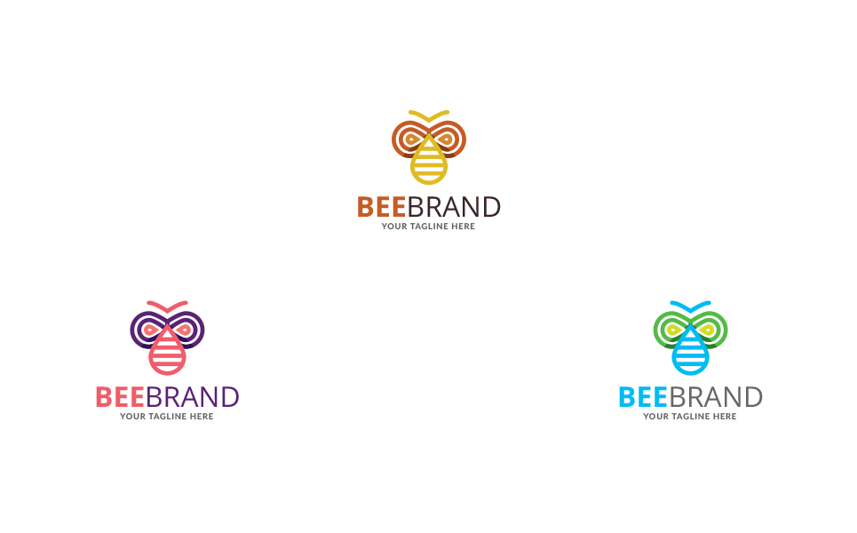 Bee Brand Logo Template