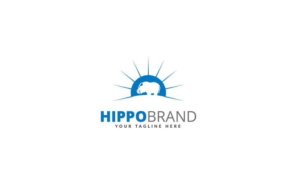 Hippo Design Logo Template