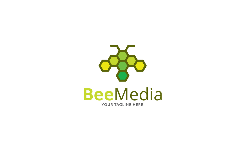 Bee Art Brand Logo Template