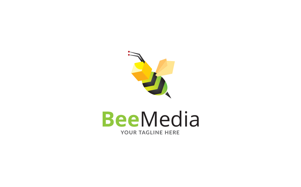 Bee View Brand Logo Template