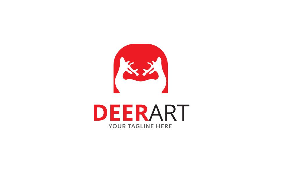 Deer Studio Design Logo Template