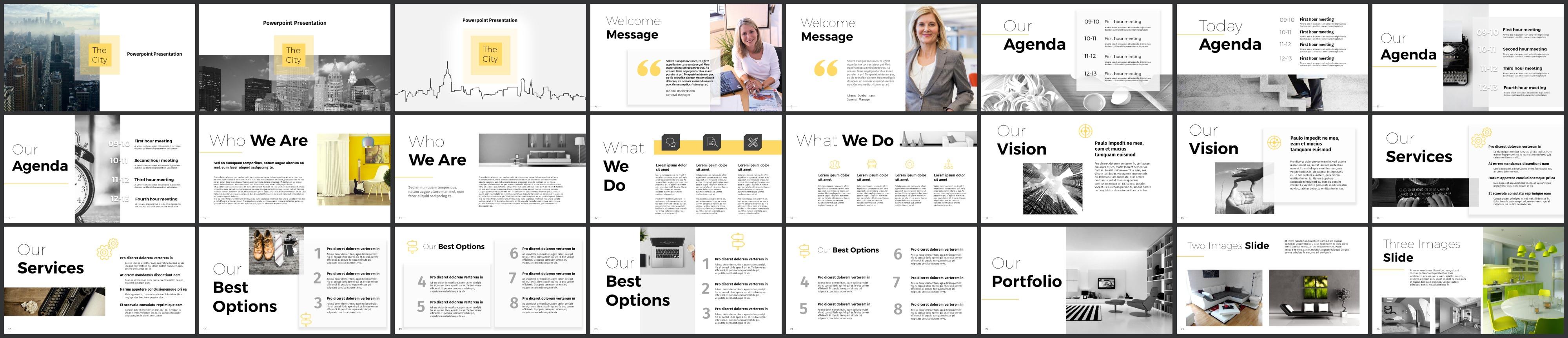 City Creative PowerPoint Template