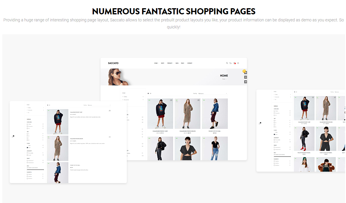 Saccato Fashion Store PrestaShop Theme