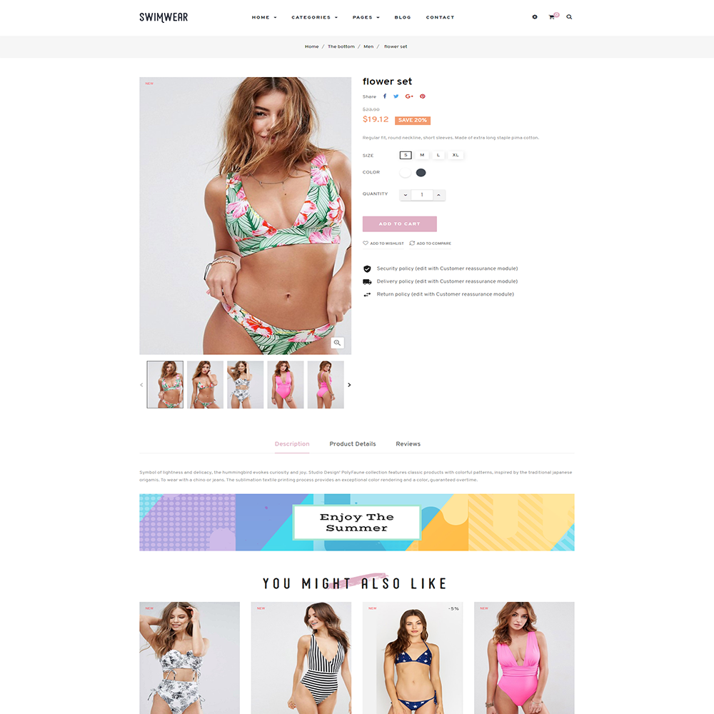 TMSwimwear Bikini & Swimwear Fashion PrestaShop Theme