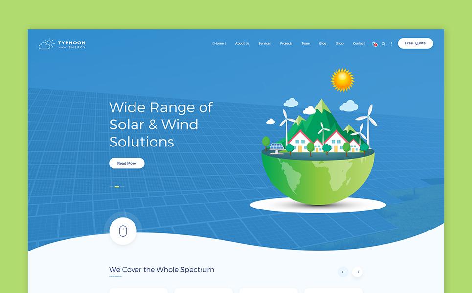Sun and Wind Energy HTML Template Website Template