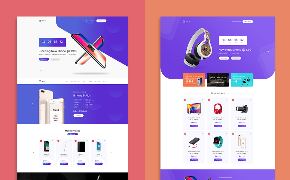 Lander Product Offer Landing Page Template