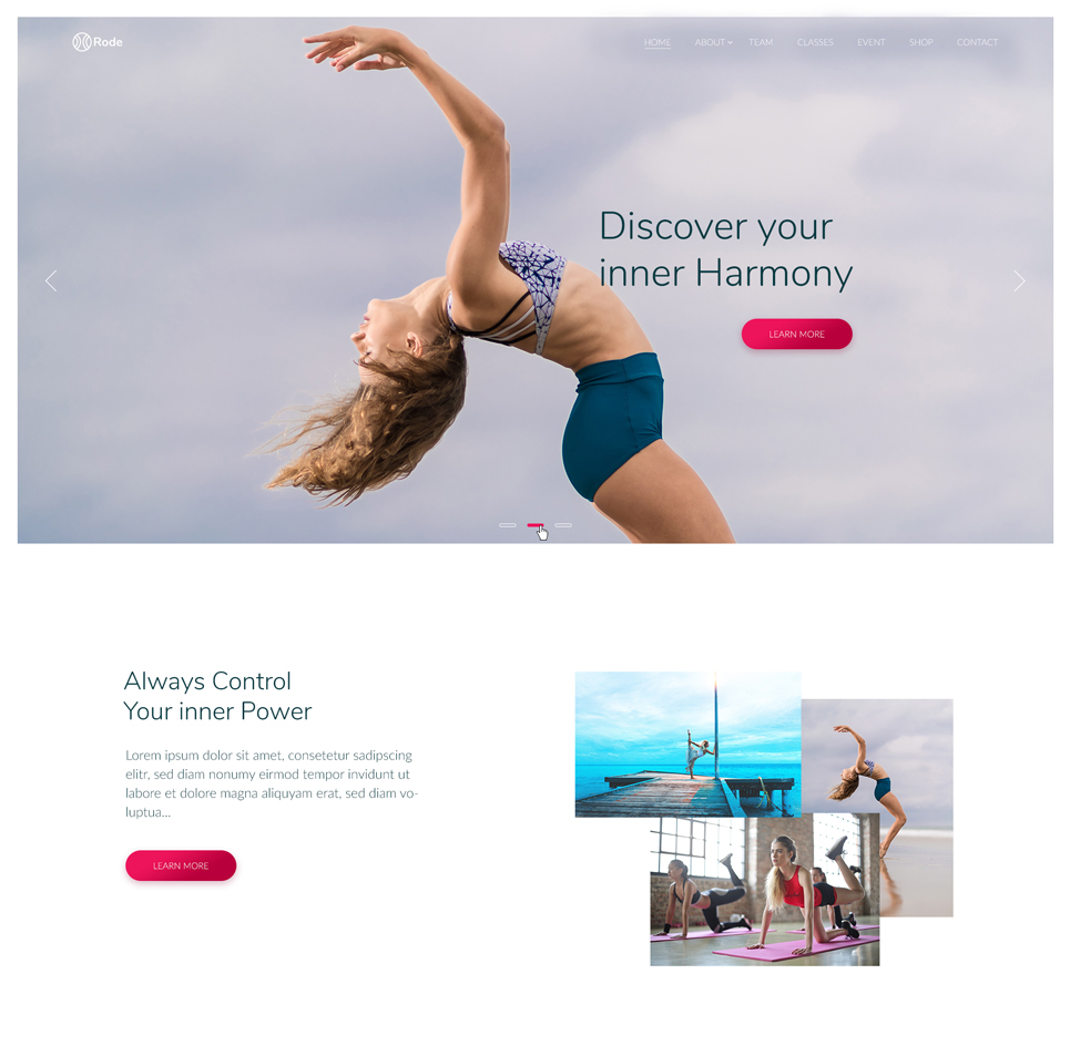 Rode - Sport and Yoga Website Template